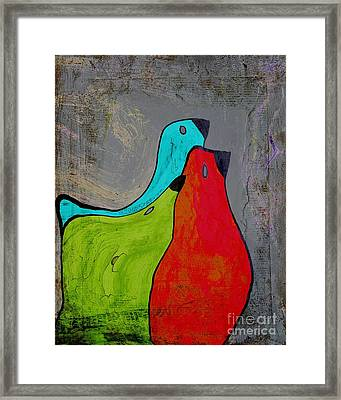 Birdies - V110b Framed Print by Variance Collections