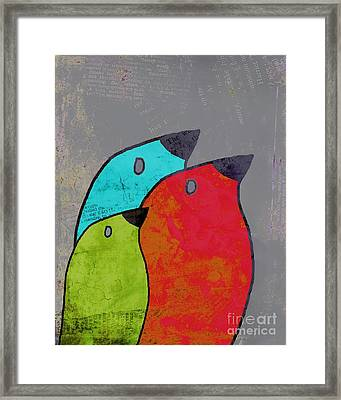 Birdies - V11b Framed Print by Variance Collections