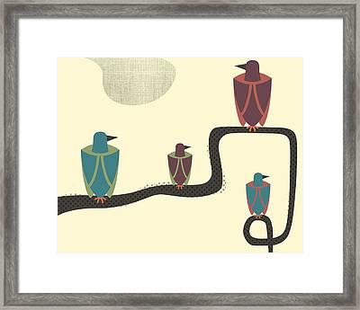 Birds - 2 Framed Print by Finlay McNevin