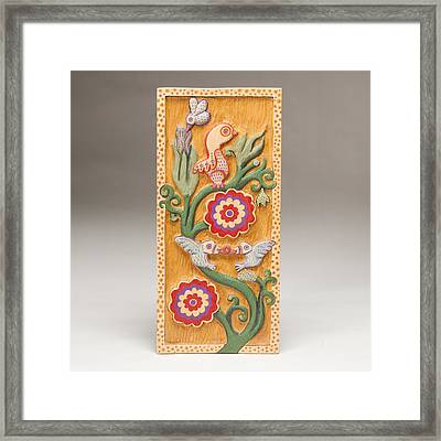 Birds And Blossoms Framed Print by James Neill