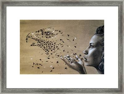 Birds Of Poetry  Framed Print by Fithi Abraham