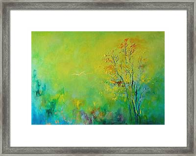 Birds In Summer Light Framed Print by Demeter Gui