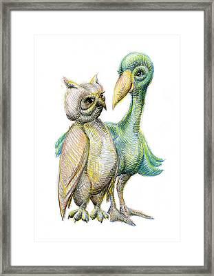 Birds Of A Feather Framed Print by Mark Johnson