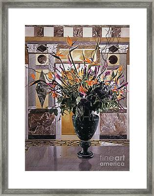 Birds Of Paradise Getty Museum Framed Print by David Lloyd Glover