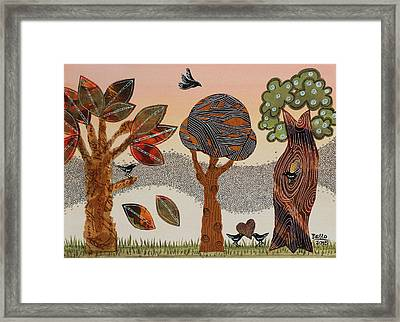 Birds Refuge Framed Print by Graciela Bello