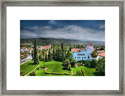 Birdseye View Of Santa Barbara I Framed Print by Steven Ainsworth