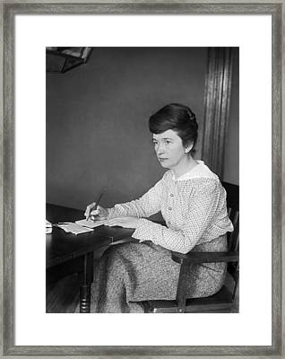 Birth Control Advocate Sanger Framed Print by Underwood Archives