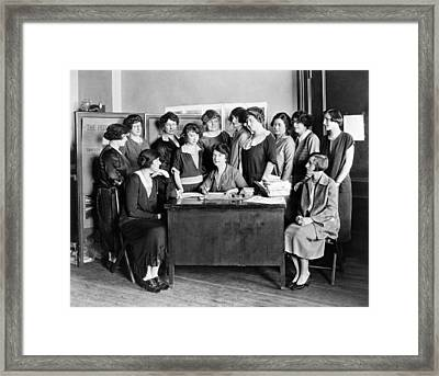 Birth Control Pioneer Sanger Framed Print by Underwood & Underwood