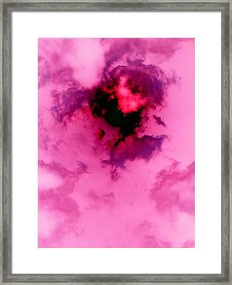 Birth Of A Cloud Framed Print by Florene Welebny