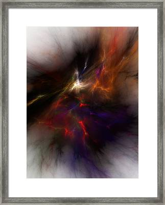 Birth Of A Thought Framed Print by David Lane
