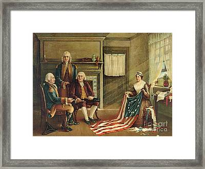 Birth Of Our Nation's Flag Framed Print by G H Weisgerber