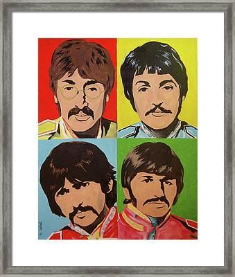 Birthday Beatles Framed Print by Deana Smith