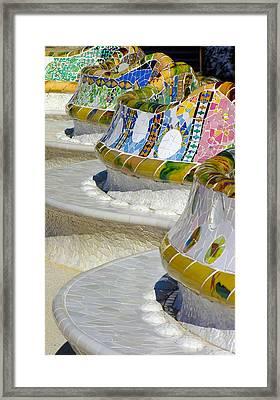 Birthday Bench Framed Print by Alan Todd