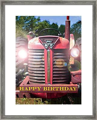 Birthday Card -- Big M-f Framed Print by Bob Johnson