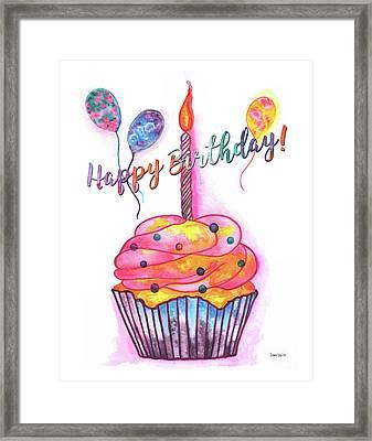 Birthday Cupcake Framed Print by Debbie DeWitt