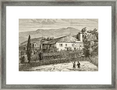 Birthplace In Casdemiro, Galicia, Spain Framed Print by Vintage Design Pics