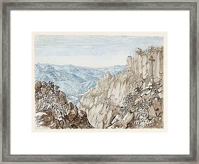 Bishop Of Gibraltar Montserrat Looking To Barcelona Framed Print by MotionAge Designs
