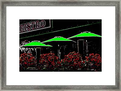 Bistro Framed Print by Will Borden
