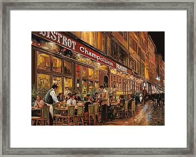 Bistrot Champollion Framed Print by Guido Borelli