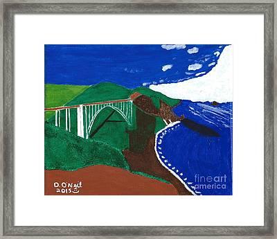 Bixby Bridge Blues Framed Print by Dennis ONeil