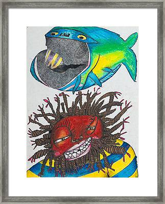 Bk-fish  Framed Print by Billy Knows