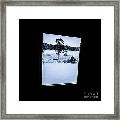 Black And Blue Snow Landscape Framed Print by Jorgo Photography - Wall Art Gallery