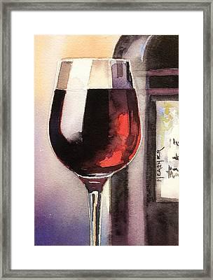 Black And Burgundy Framed Print by Spencer Meagher