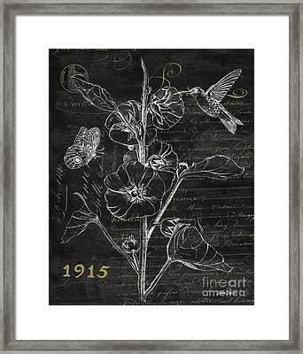 Black And Gold Hummingbirds 1 Framed Print by Debbie DeWitt