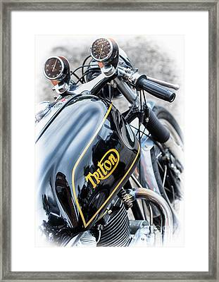 Black And Gold Triton Framed Print by Tim Gainey