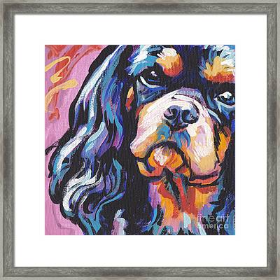 Black And Tan Cav Framed Print by Lea S