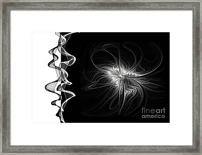 Black And White - 2 - Negative Framed Print by Ann Garrett