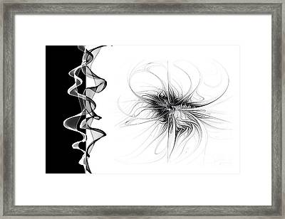 Black And White - 2 Framed Print by Ann Garrett