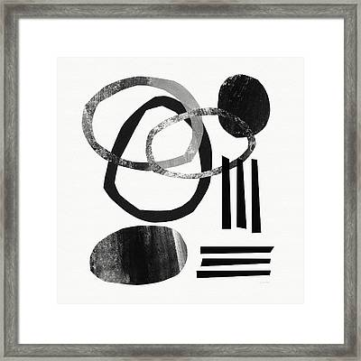 Black And White- Abstract Art Framed Print by Linda Woods