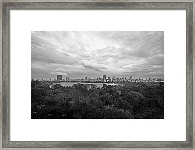 Black And White City Framed Print by Ariane Moshayedi