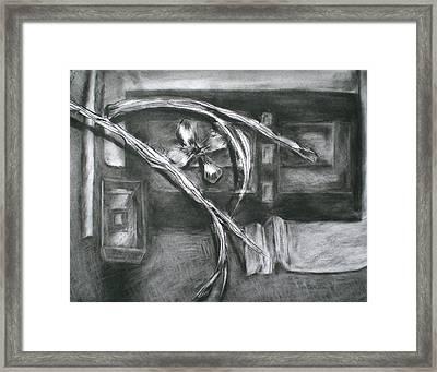 Black And White Composition II Framed Print by Aleksandra Buha
