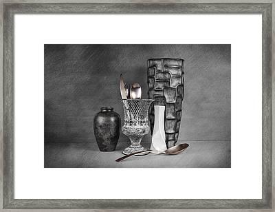 Black And White Composition Framed Print by Tom Mc Nemar