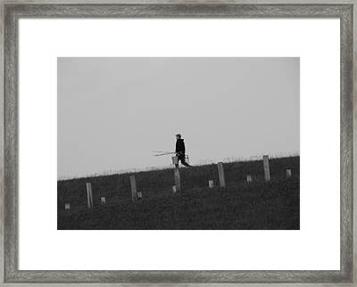 Black And White Fisherman Framed Print by Dan Sproul