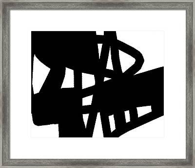 Black And White Framed Print by International Artist Brent Litsey