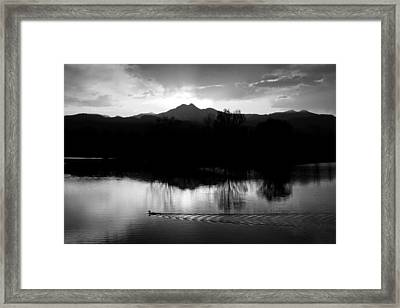 Black And White Lake Sunset Framed Print by James BO  Insogna