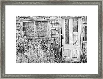 Black And White Old Building In Maine Framed Print by Keith Webber Jr