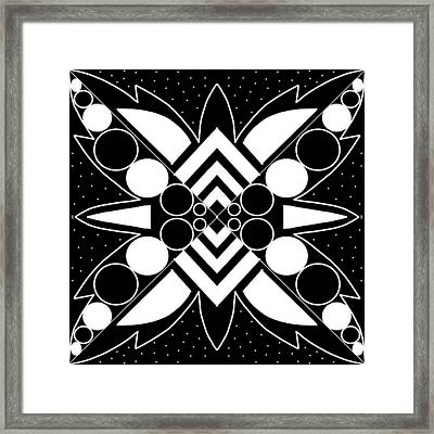 Black And White Patterns Framed Print by Pratyasha Nithin