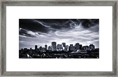 Black And White Skyline Framed Print by Ian MacDonald