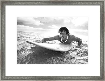Black And White Sufer Framed Print by Brandon Tabiolo - Printscapes