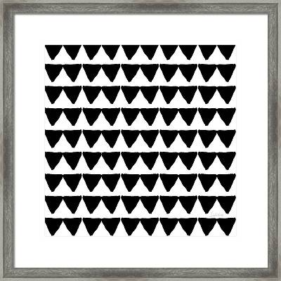 Black And White Triangles- Art By Linda Woods Framed Print by Linda Woods