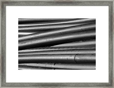 Black And White Tubes Abstract Framed Print by James BO  Insogna
