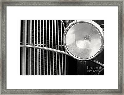 Black And White Vintage Car Abstract 1 - Natalie Kinnear Photogr Framed Print by Natalie Kinnear