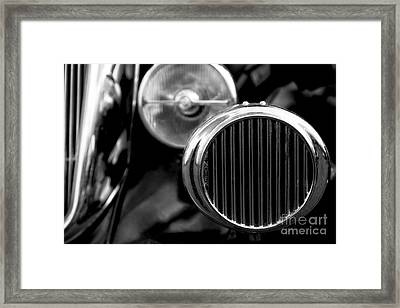 Black And White Vintage Car Abstract 2 - Natalie Kinnear Photogr Framed Print by Natalie Kinnear