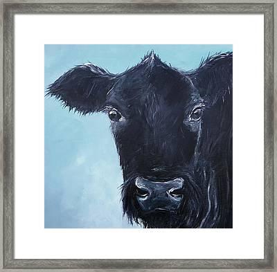 Black Angus Aggie Framed Print by Karen King