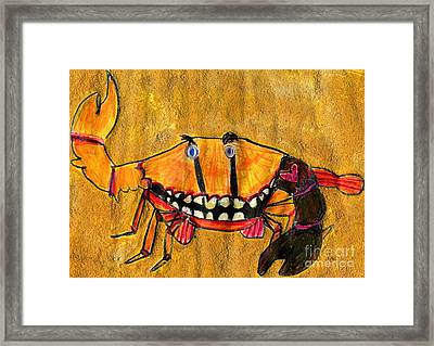 bLAck aRm cRAb Framed Print by Simon Shepherd