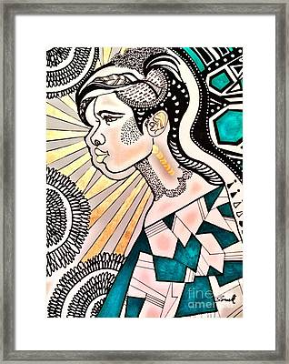 Black Beam Framed Print by Amy Sorrell
